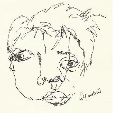 frontal self-portrait